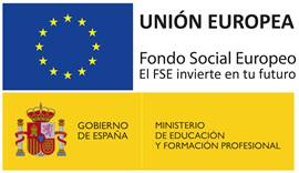 Aulas financiadas con Fondo Social Europeo.