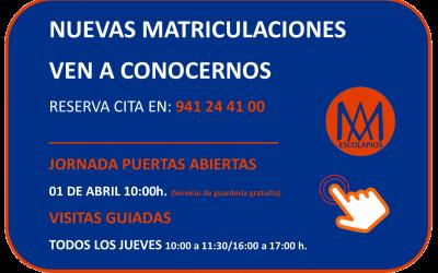NUEVAS MATRICULACIONES. CURSO 2020/2021. Escolarización.